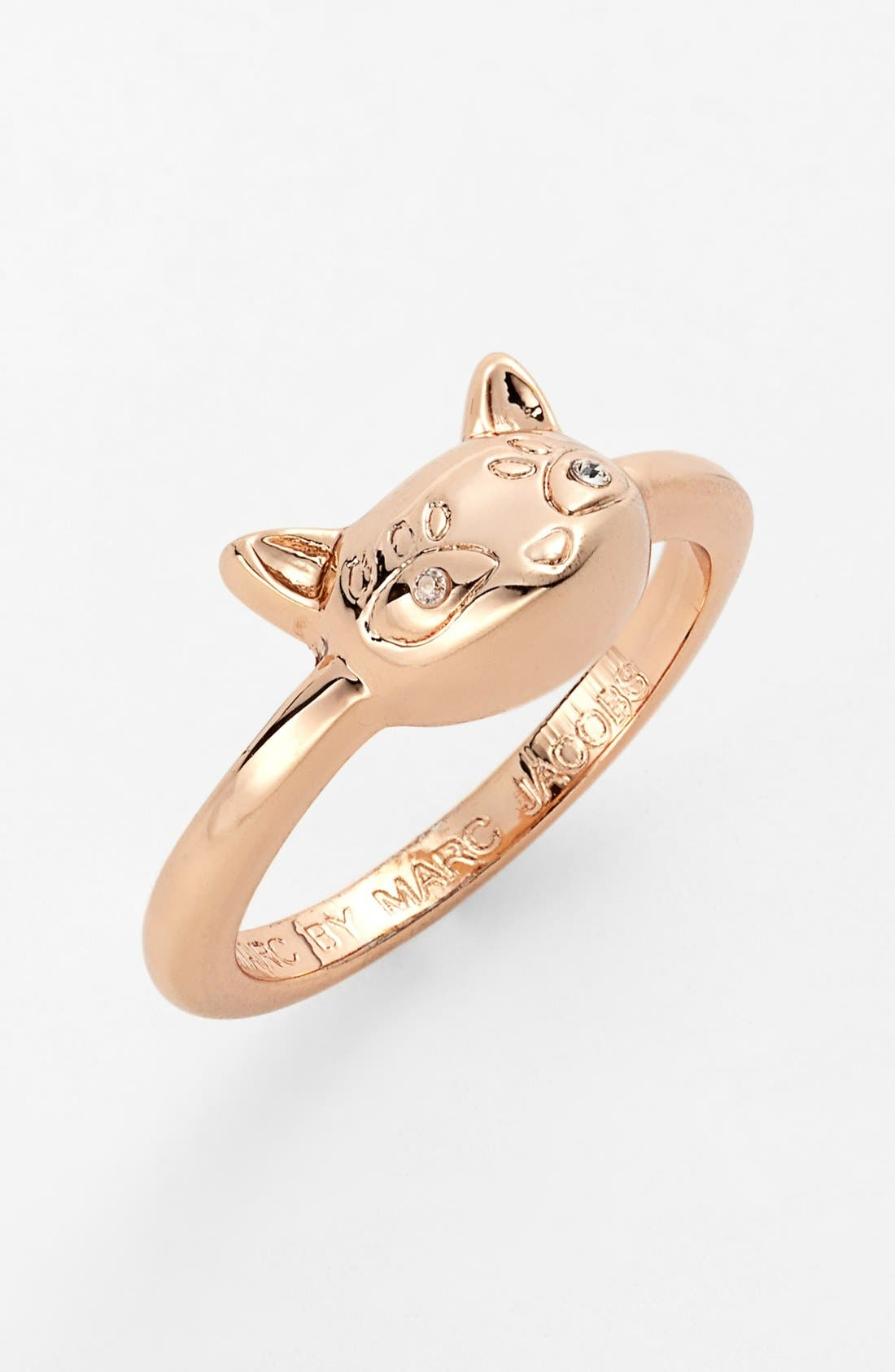 'Dynamite - Rue' Cat Ring,                             Main thumbnail 1, color,                             Rose Gold