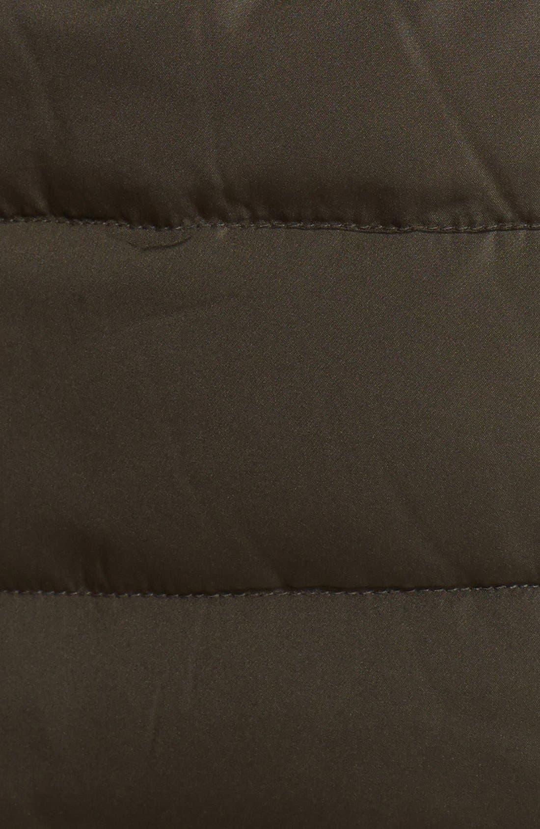 Alternate Image 3  - Larry Levine Faux Fur Trim Down & Feather Jacket