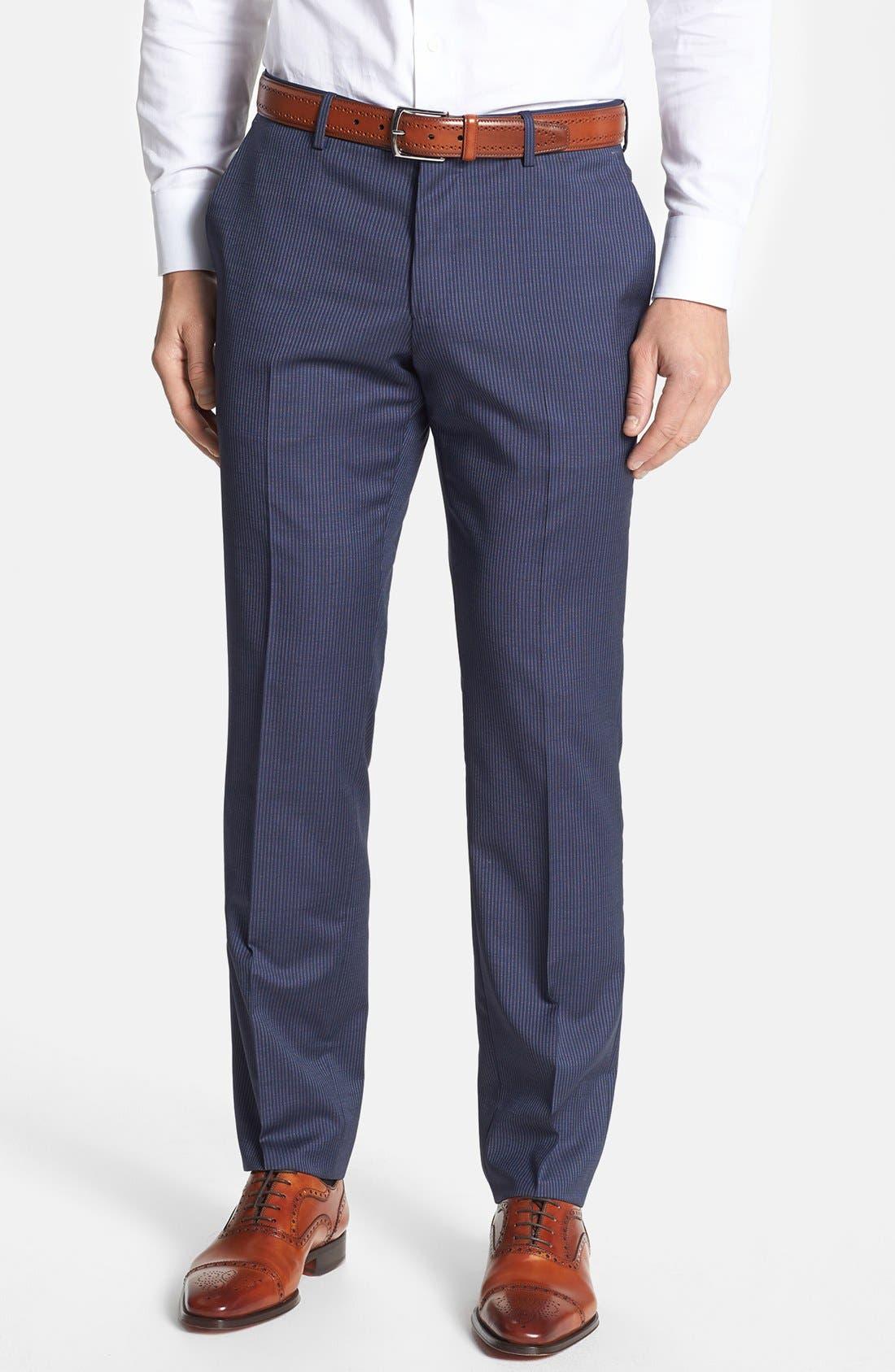 Alternate Image 4  - BOSS HUGO BOSS 'Hutson/Gander' Trim Fit Stripe Suit