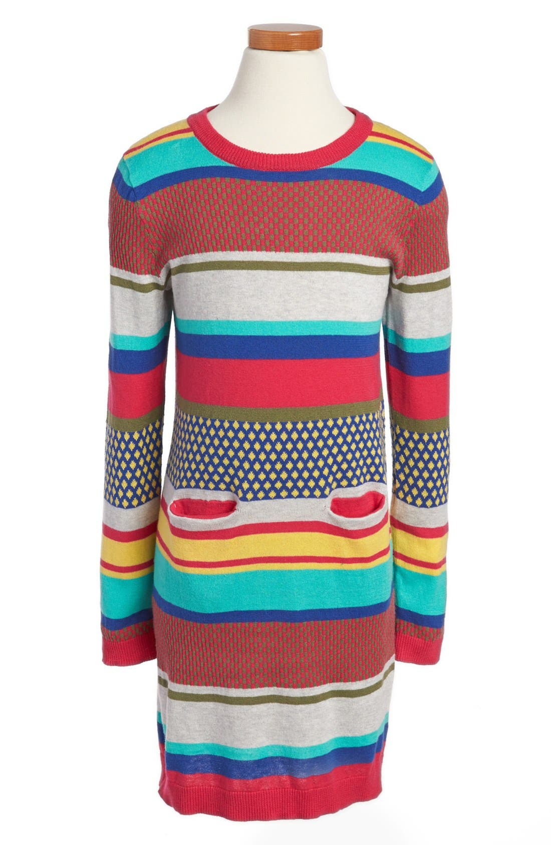 Alternate Image 1 Selected - Tucker + Tate 'Chantel' Jacquard Knit Dress (Little Girls & Big Girls)