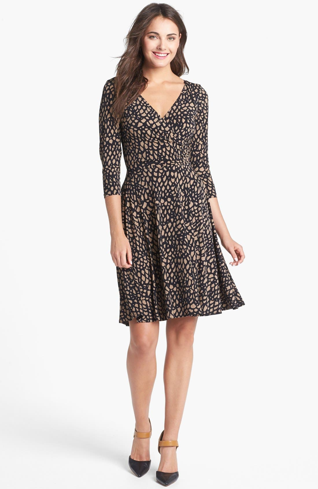 Alternate Image 1 Selected - Maggy London Print Jersey Fit & Flare Dress