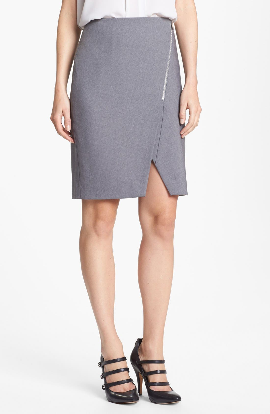 Alternate Image 1 Selected - Vince Camuto Asymmetrical Zip Skirt