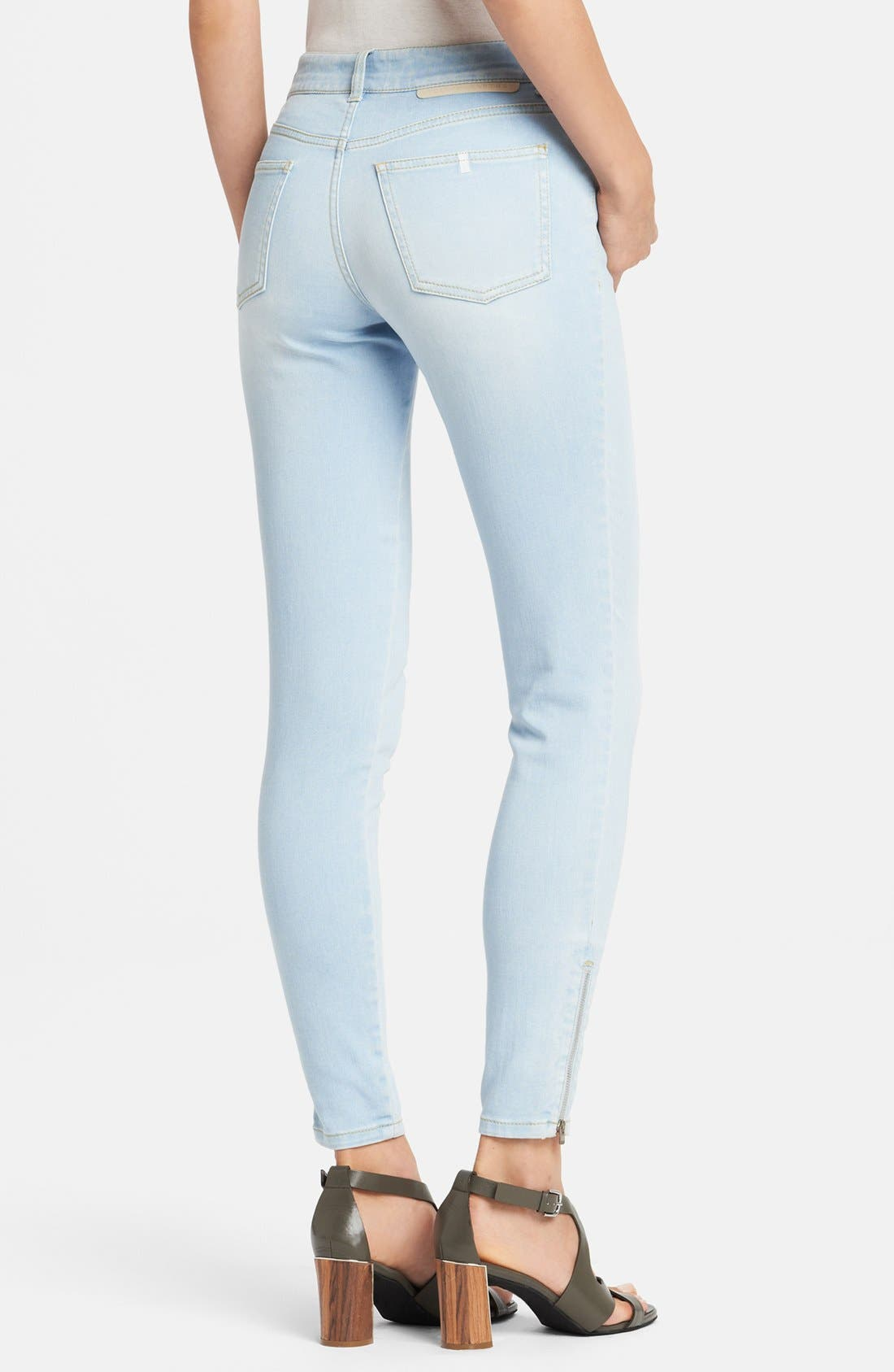 Alternate Image 2  - Stella McCartney 'Jessica' Skinny Ankle Zip Jeans