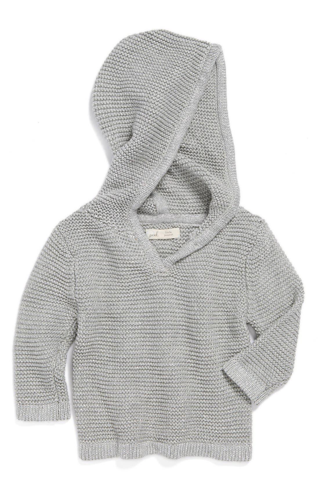 Alternate Image 1 Selected - Peek 'Beca' Hooded Sweater (Baby)