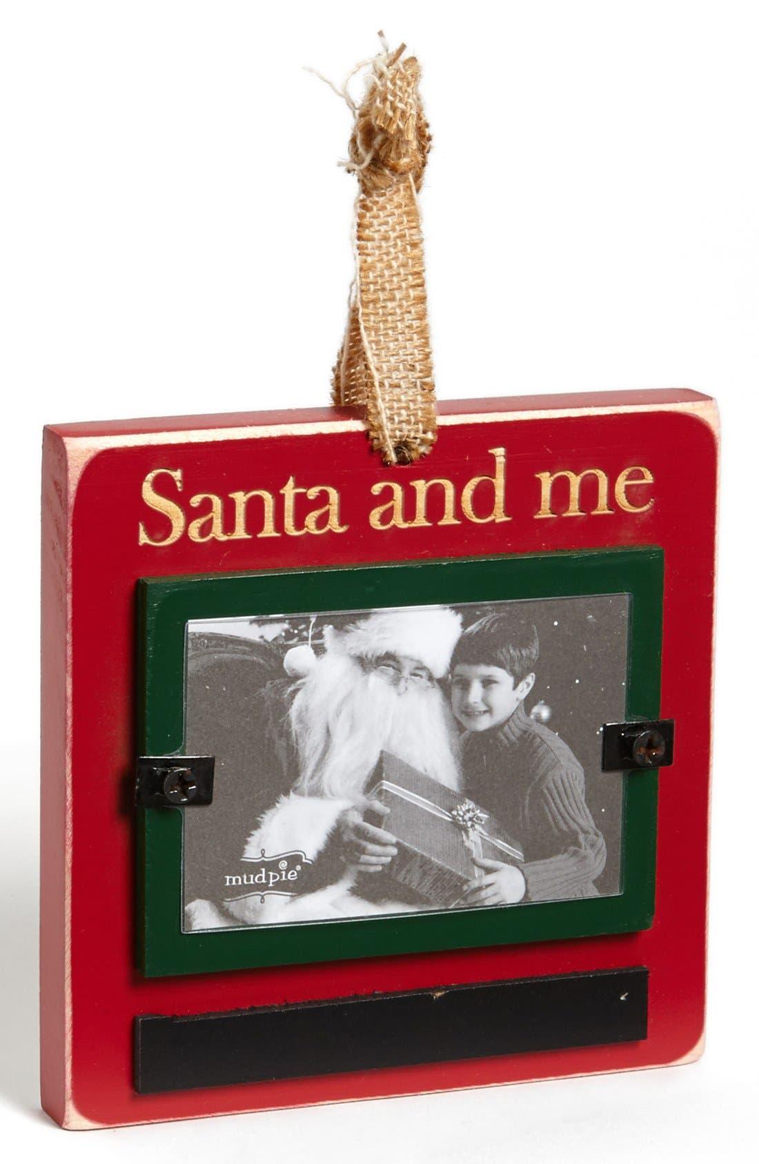 Main Image - Mud Pie 'Santa & Me' Wooden Frame Ornament