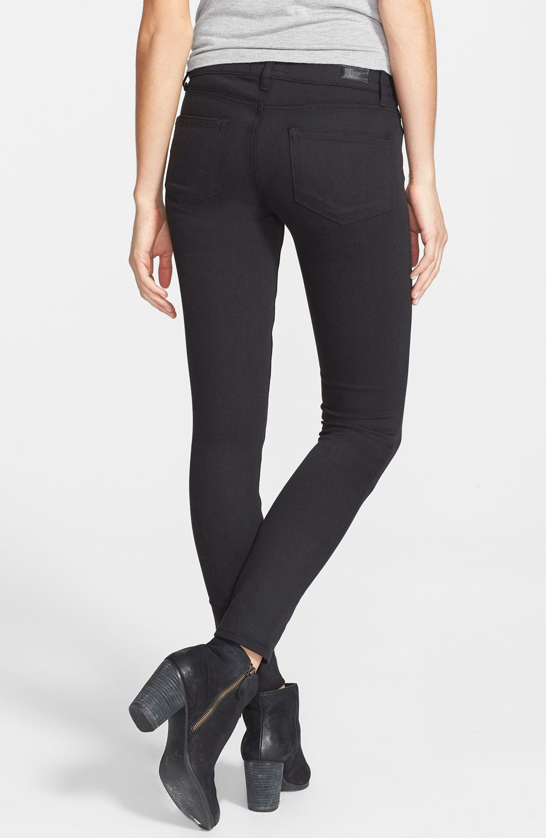 Alternate Image 2  - Paige Denim 'Indio' Zip Detail Ultra Skinny Jeans (Steel Grey)