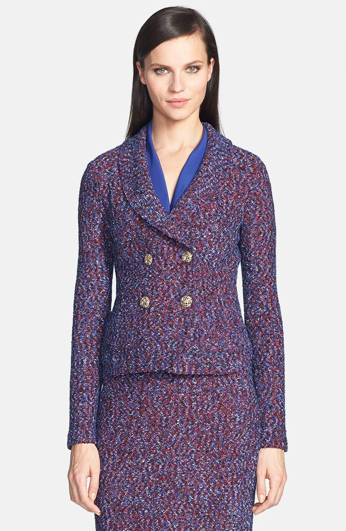 Main Image - St. John Collection Looped Lash Tweed Knit Jacket