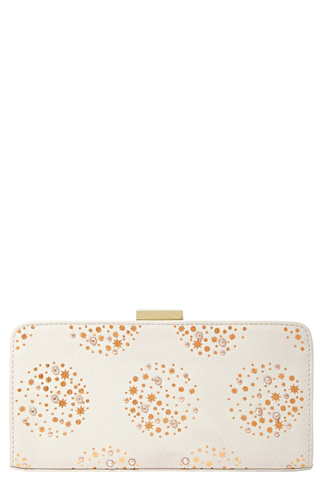 Alternate Image 1 Selected - Fossil 'Memoir' Leather Frame Clutch