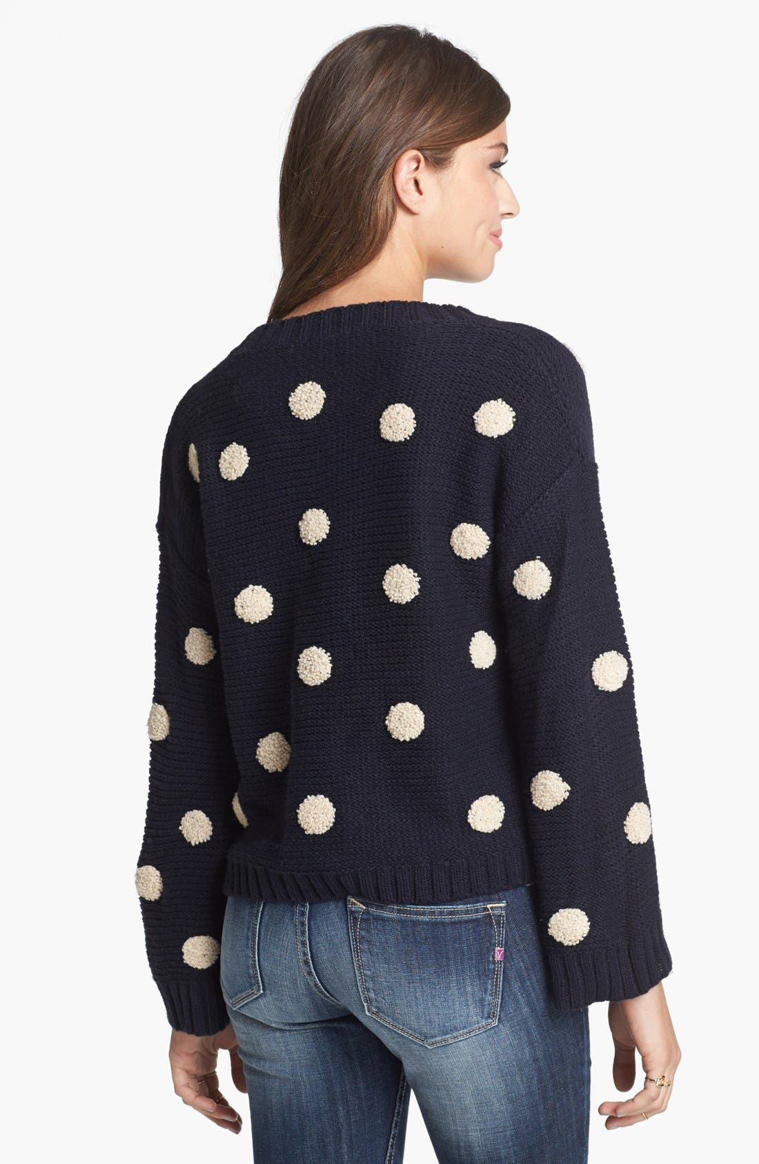 Alternate Image 2  - Elodie Embroidered Dot Sweater (Juniors)