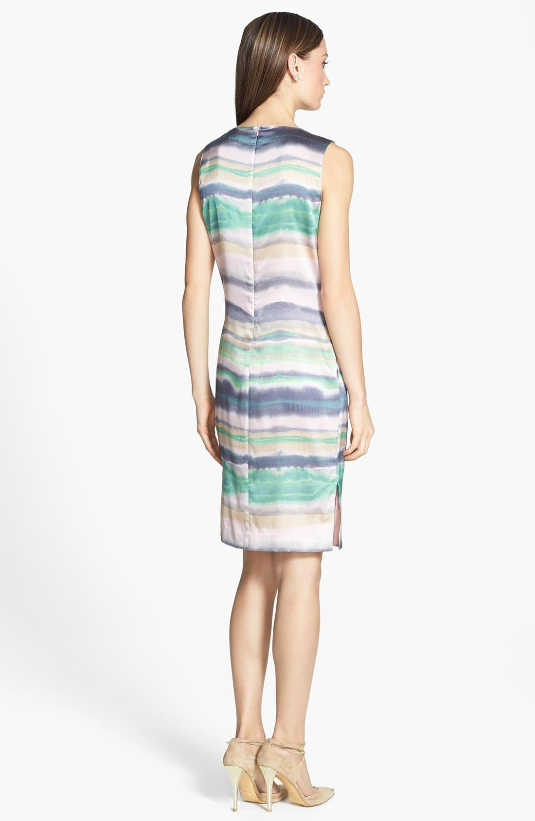 Alternate Image 2  - St. John Collection 'Oasis Stripe' Stretch Silk Charmeuse Shift Dress