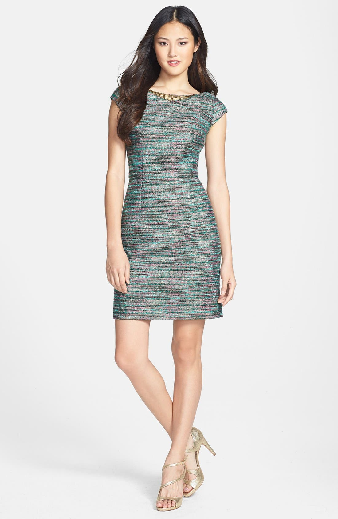 Alternate Image 1 Selected - Laundry by Shelli Segal Embellished Bouclé Sheath Dress