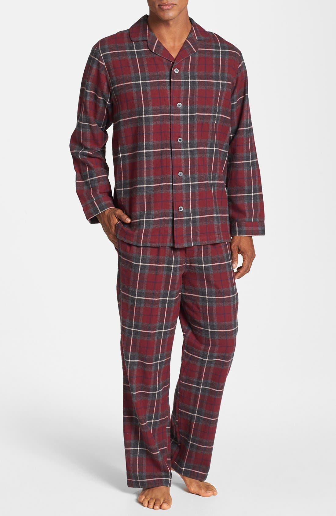 Alternate Image 1 Selected - Nordstrom Men's Shop '824' Flannel Pajama Set