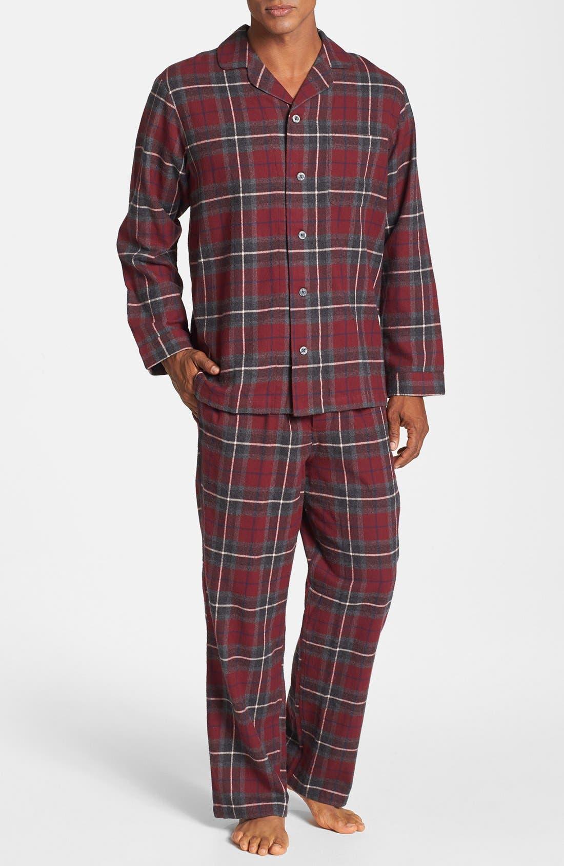 Main Image - Nordstrom Men's Shop '824' Flannel Pajama Set