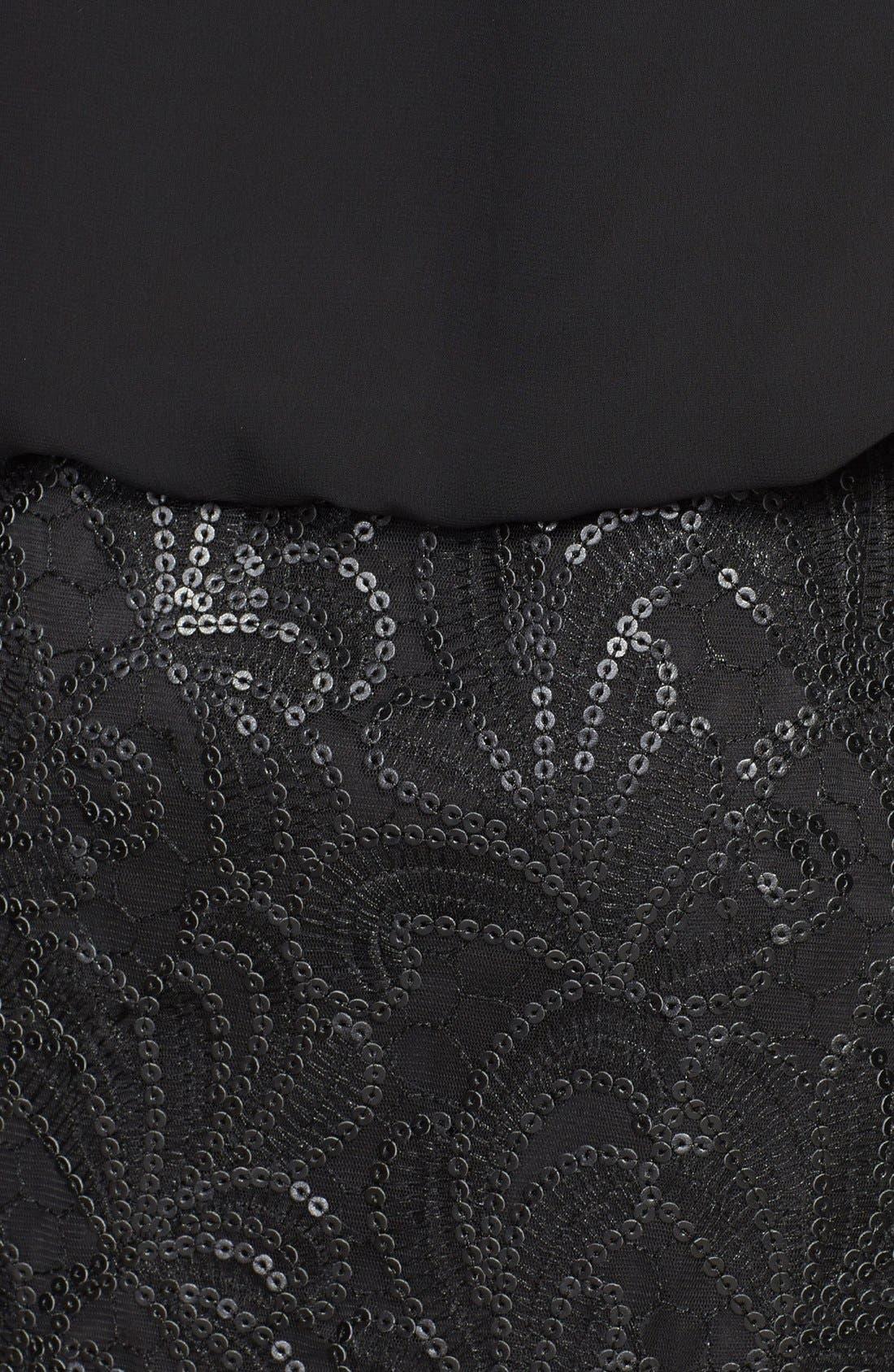 Alternate Image 4  - Aidan Mattox Embellished Chiffon Blouson Dress