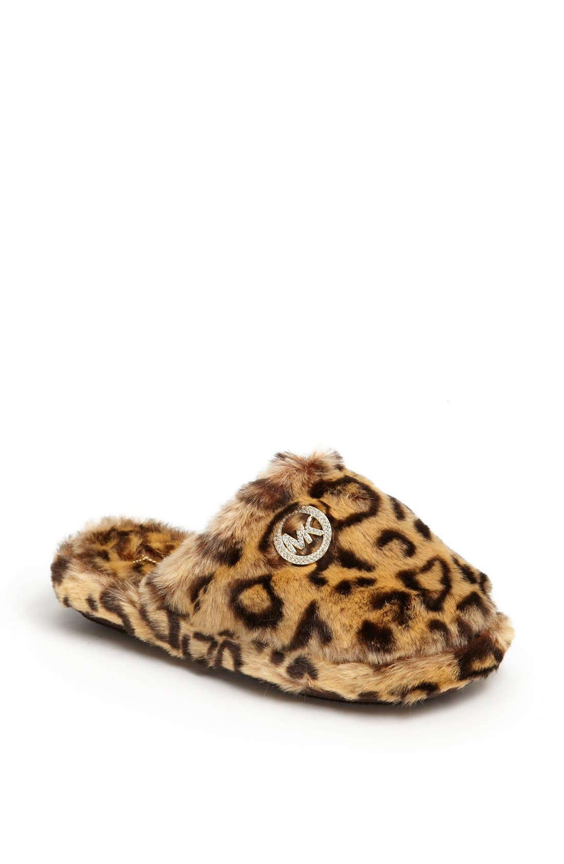 Main Image - MICHAEL Michael Kors 'Jet Set' Faux Fur Slipper