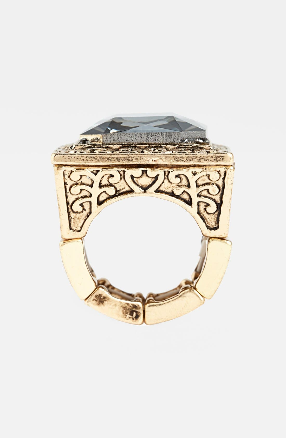 Alternate Image 3  - Natasha Couture Square Statement Ring