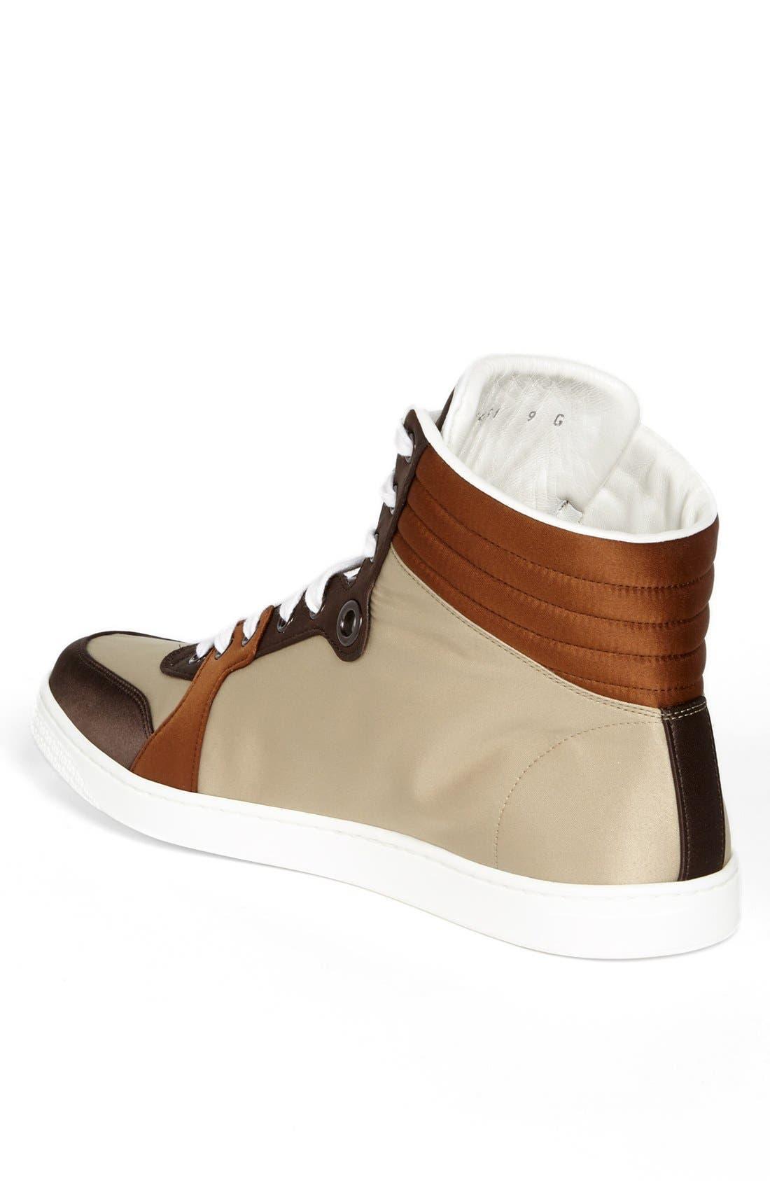 Alternate Image 2  - Gucci 'Coda' Satin High Top Sneaker