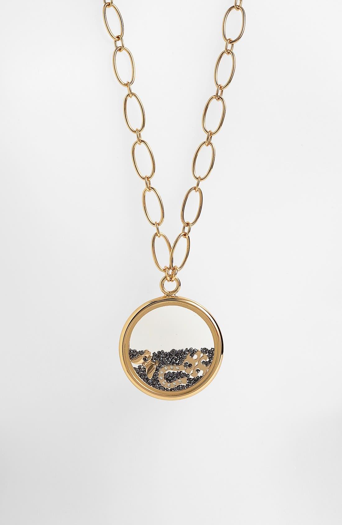 Alternate Image 2  - Tory Burch 'Sylbie' Glitter Pendant Chain Necklace