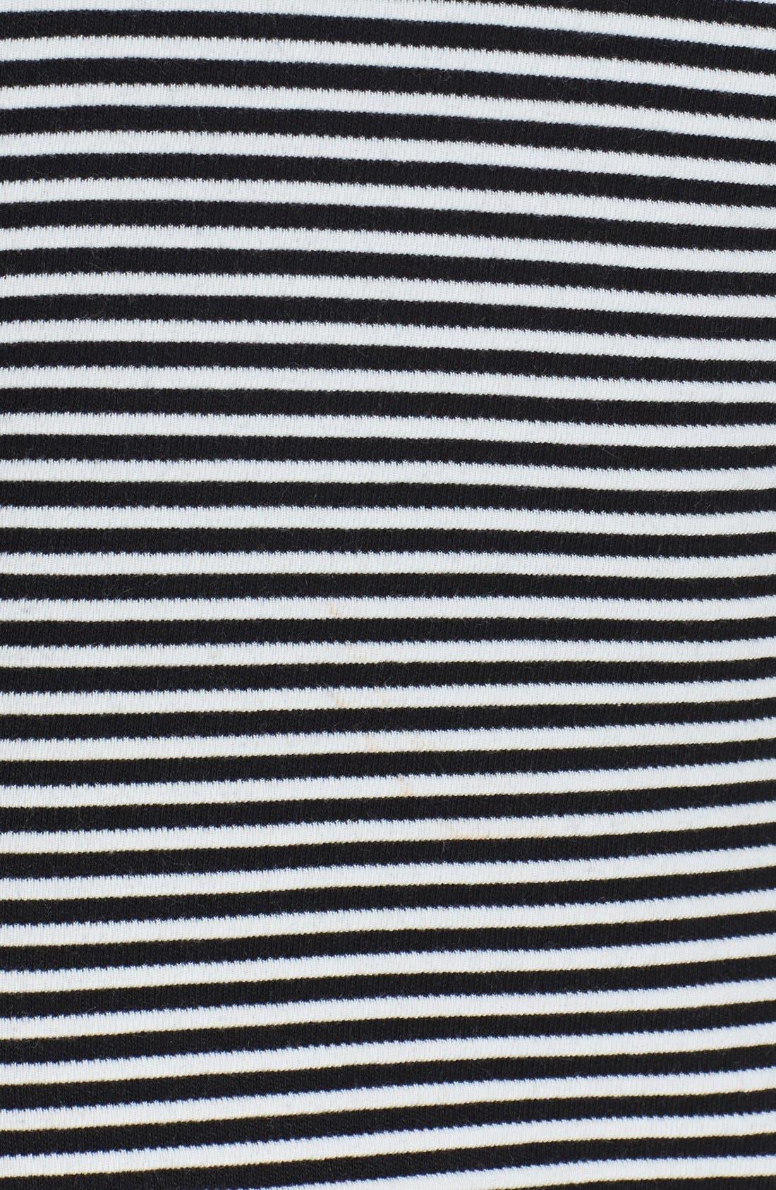 Alternate Image 4  - Isaac Mizrahi New York Colorblock Stripe Stretch Jersey Shift Dress