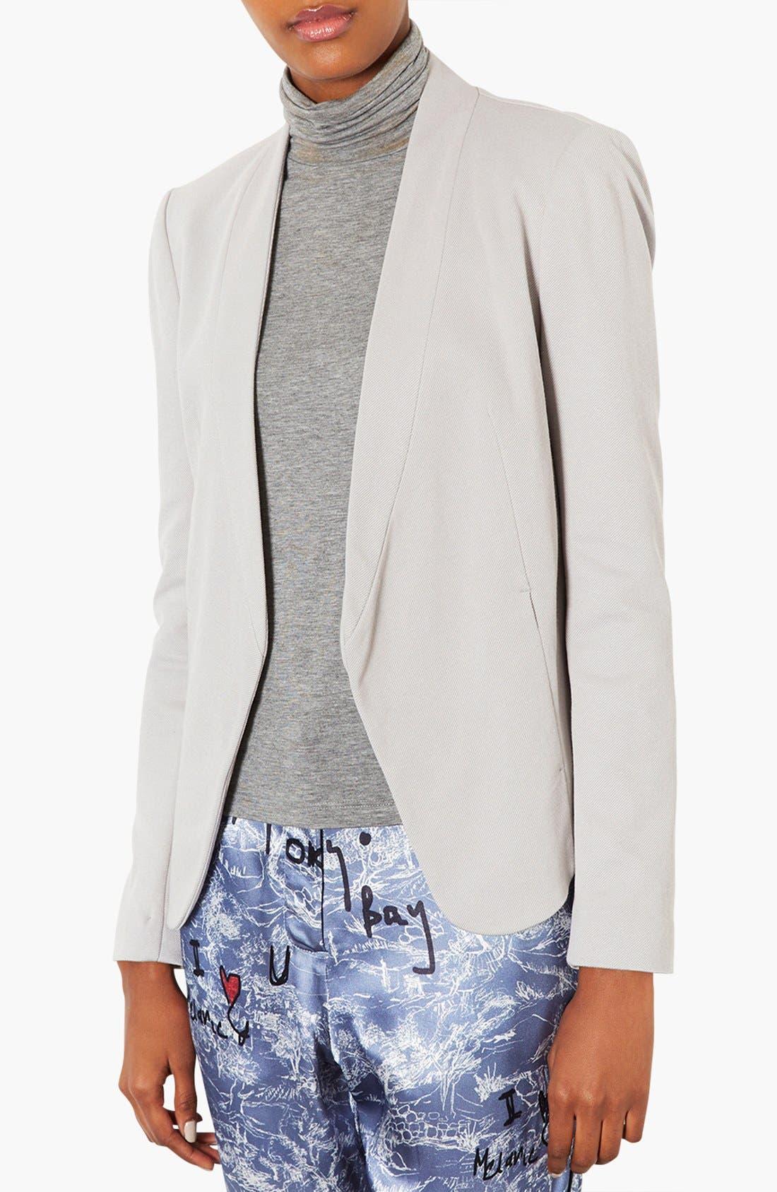 Alternate Image 1 Selected - Topshop 'Darcy' Textured Blazer