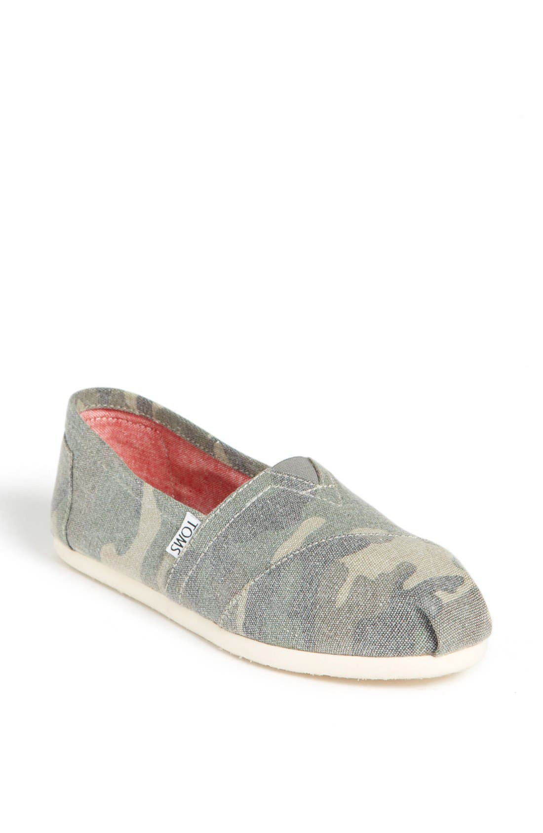 Alternate Image 1 Selected - TOMS 'Classic - Camo' Canvas Slip-On (Women)