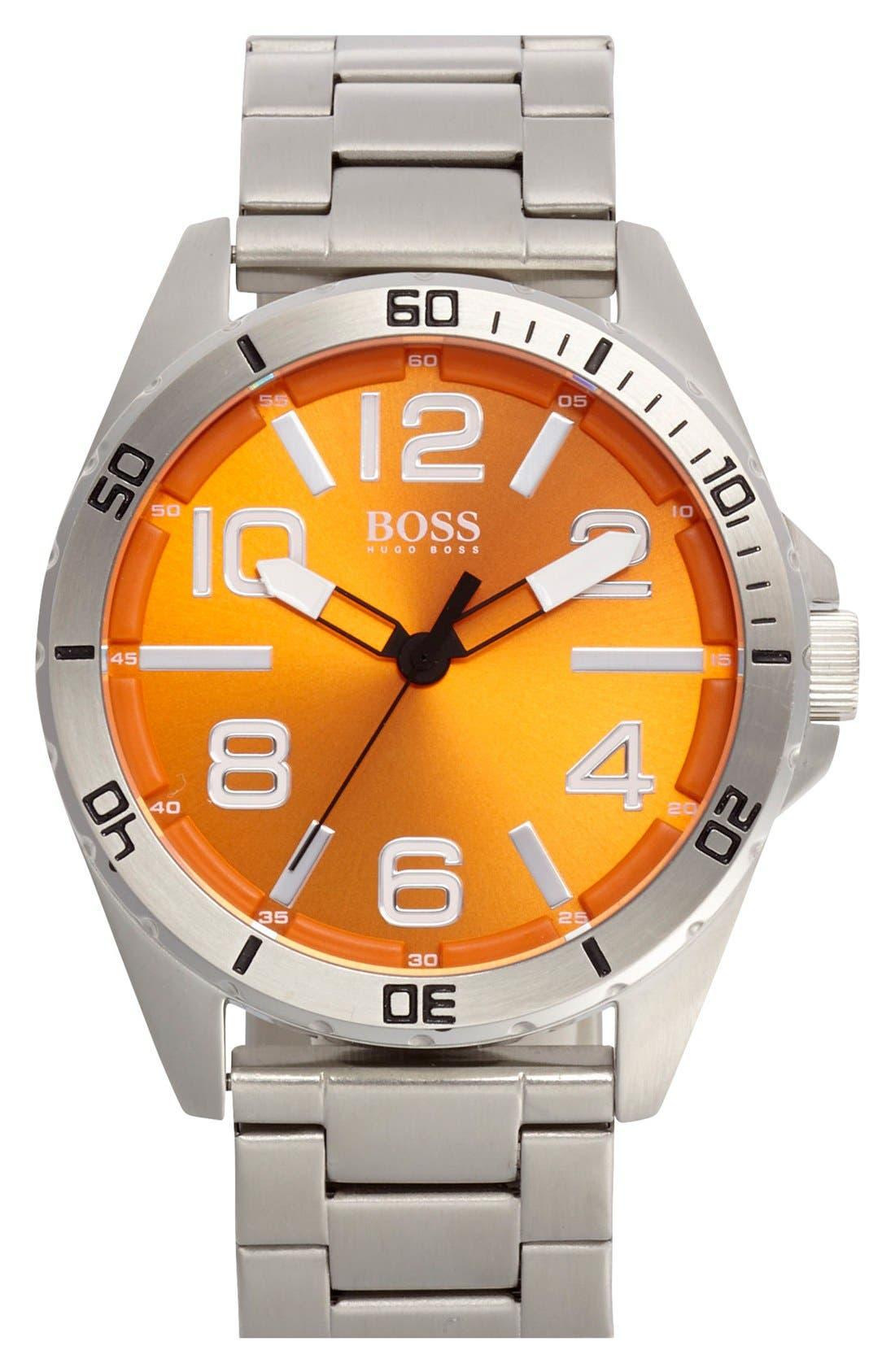 Alternate Image 1 Selected - BOSS Orange 'Big Time' Multifunction Bracelet Watch, 48mm