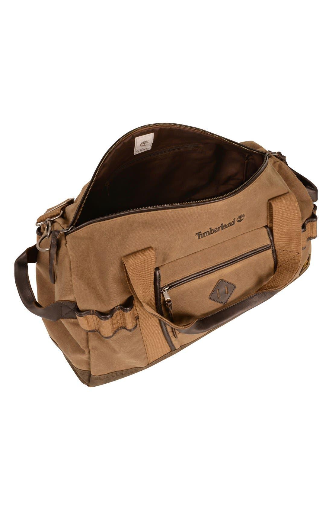 'Madison' Duffel Bag,                             Alternate thumbnail 3, color,                             Tan/ Brown
