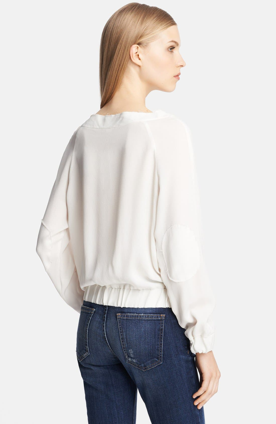 Alternate Image 2  - Band of Outsiders Silk Baseball Blouse