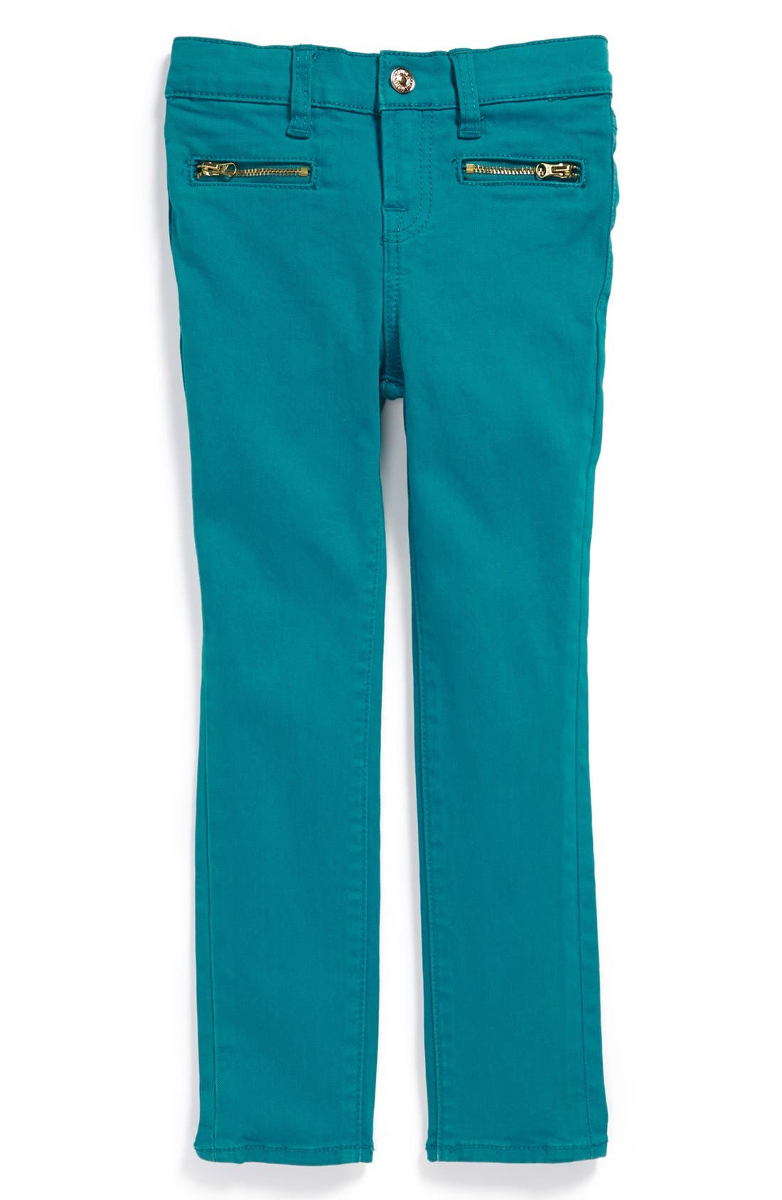 Alternate Image 2  - 7 For All Mankind® 'The Skinny' Stretch Jeans (Big Girls)