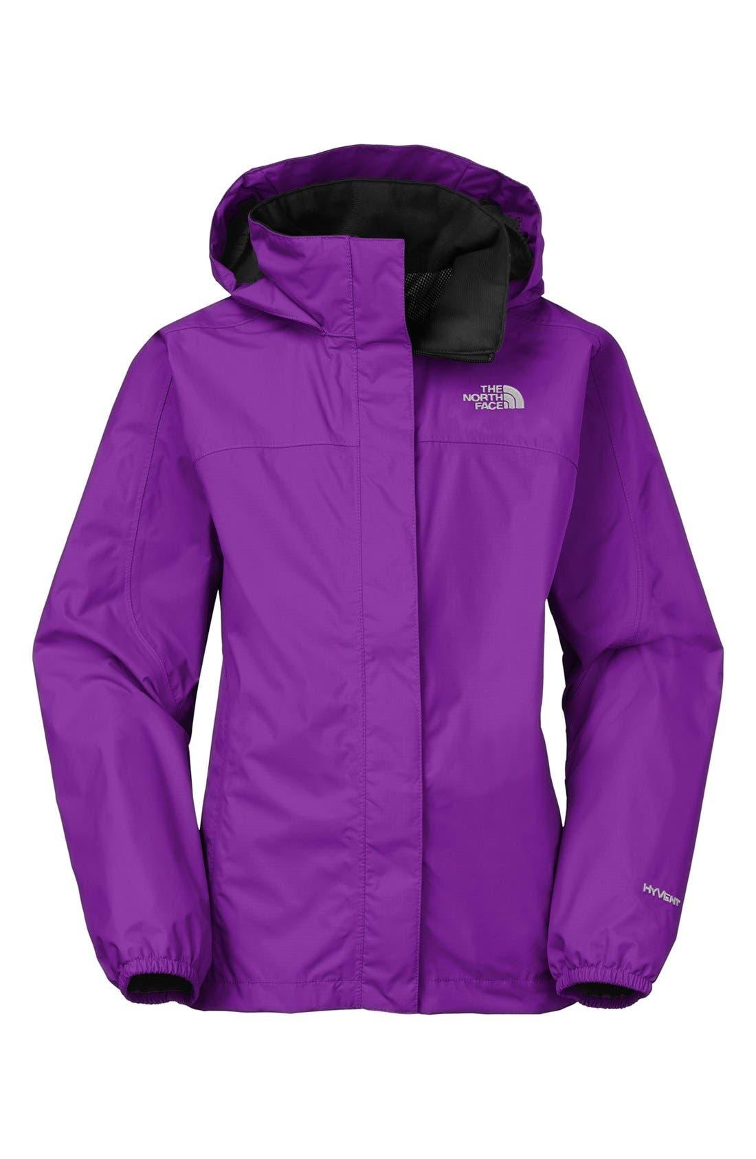 Main Image - The North Face 'Resolve' Rain Jacket (Little Girls & Big Girls)