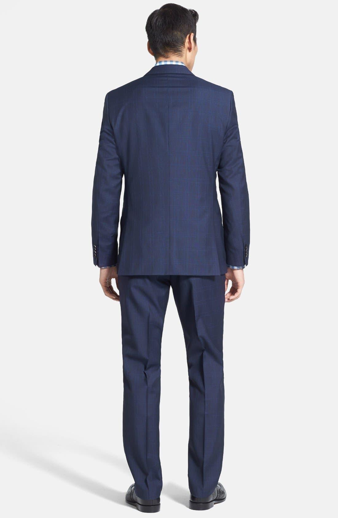Alternate Image 2  - BOSS HUGO BOSS 'James/Sharp' Trim Fit Windowpane Suit