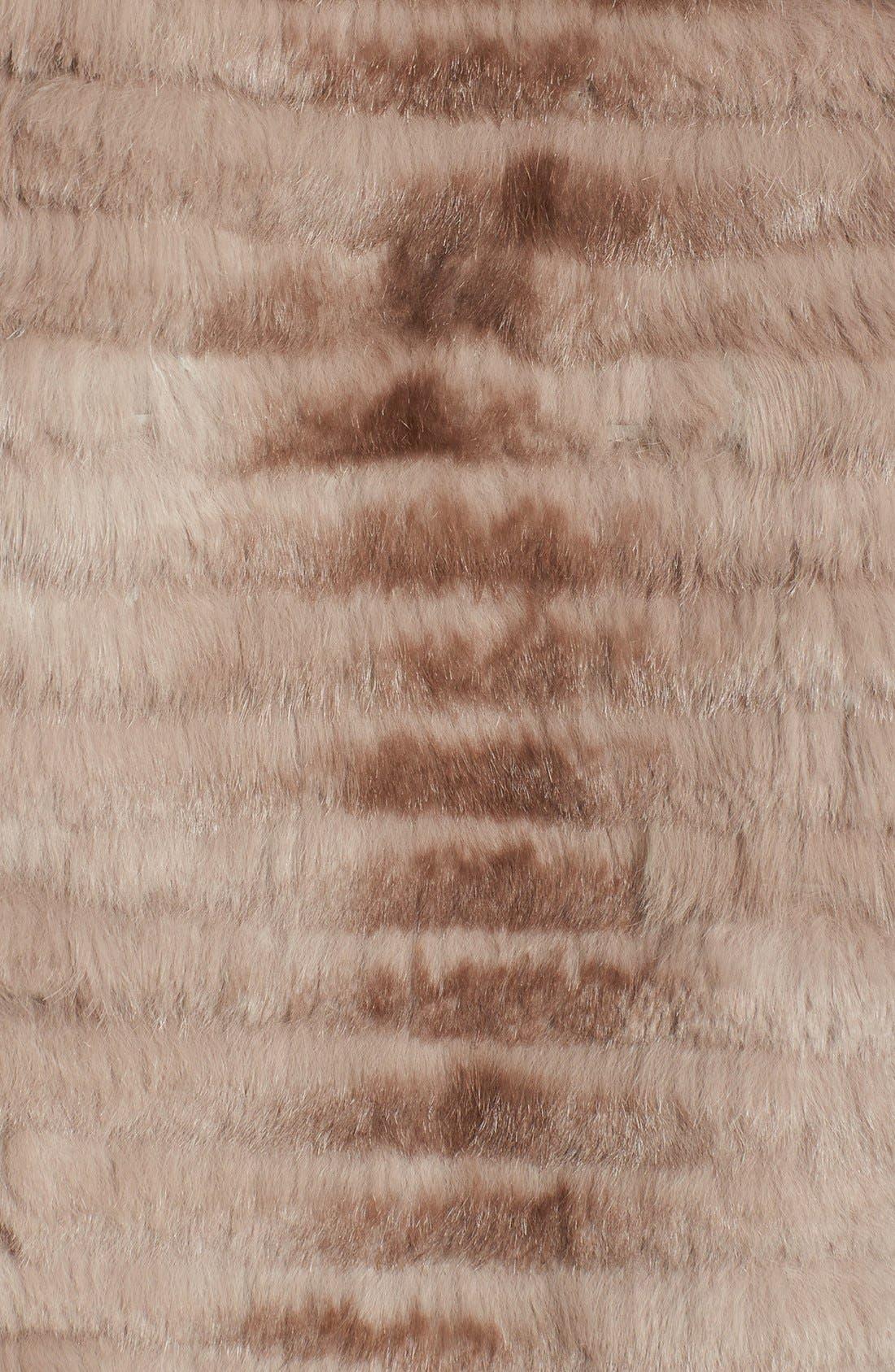 Alternate Image 3  - Dena Home Genuine Rabbit Fur Jacket