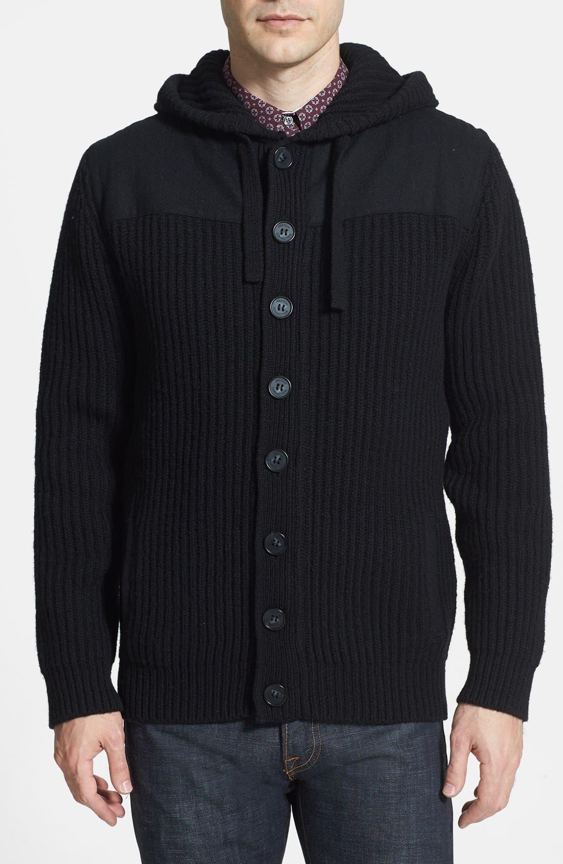 Main Image - French Connection 'Myrrh Patch Melton' Sweater Jacket