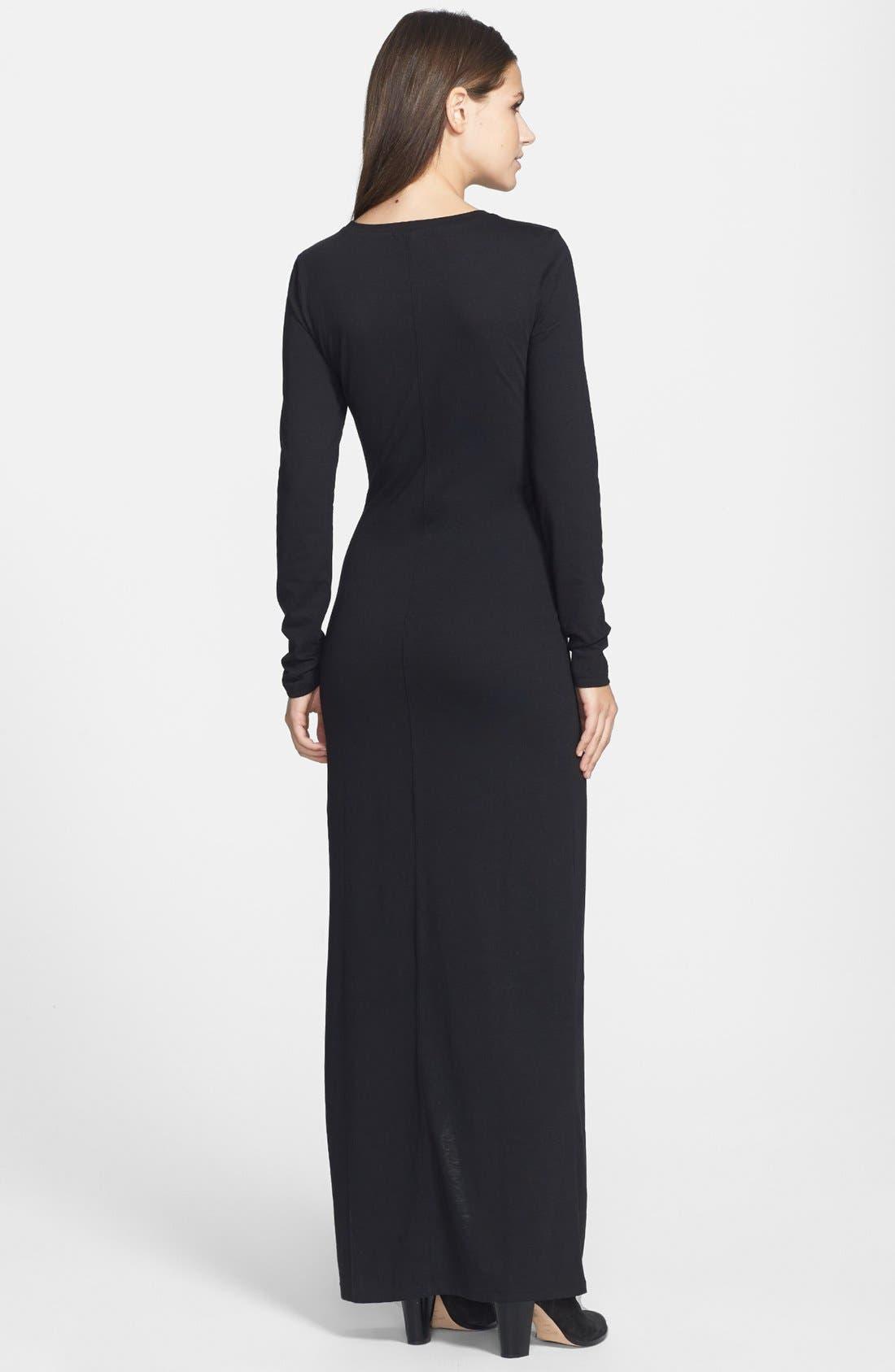 Alternate Image 2  - Leith Long Sleeve Knit Maxi Dress