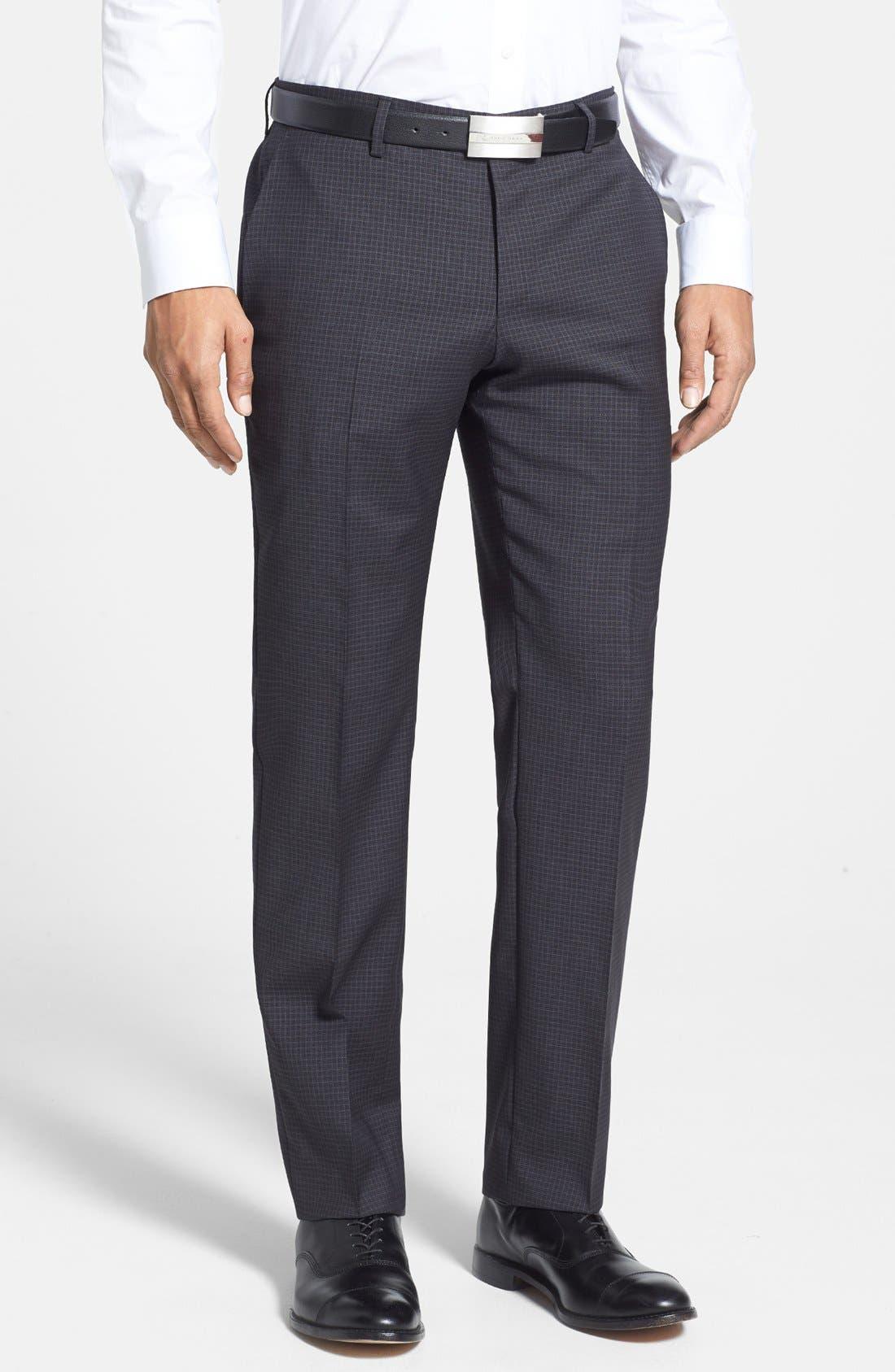 Alternate Image 4  - BOSS HUGO BOSS 'Huge/Genius' Trim Fit Check Suit