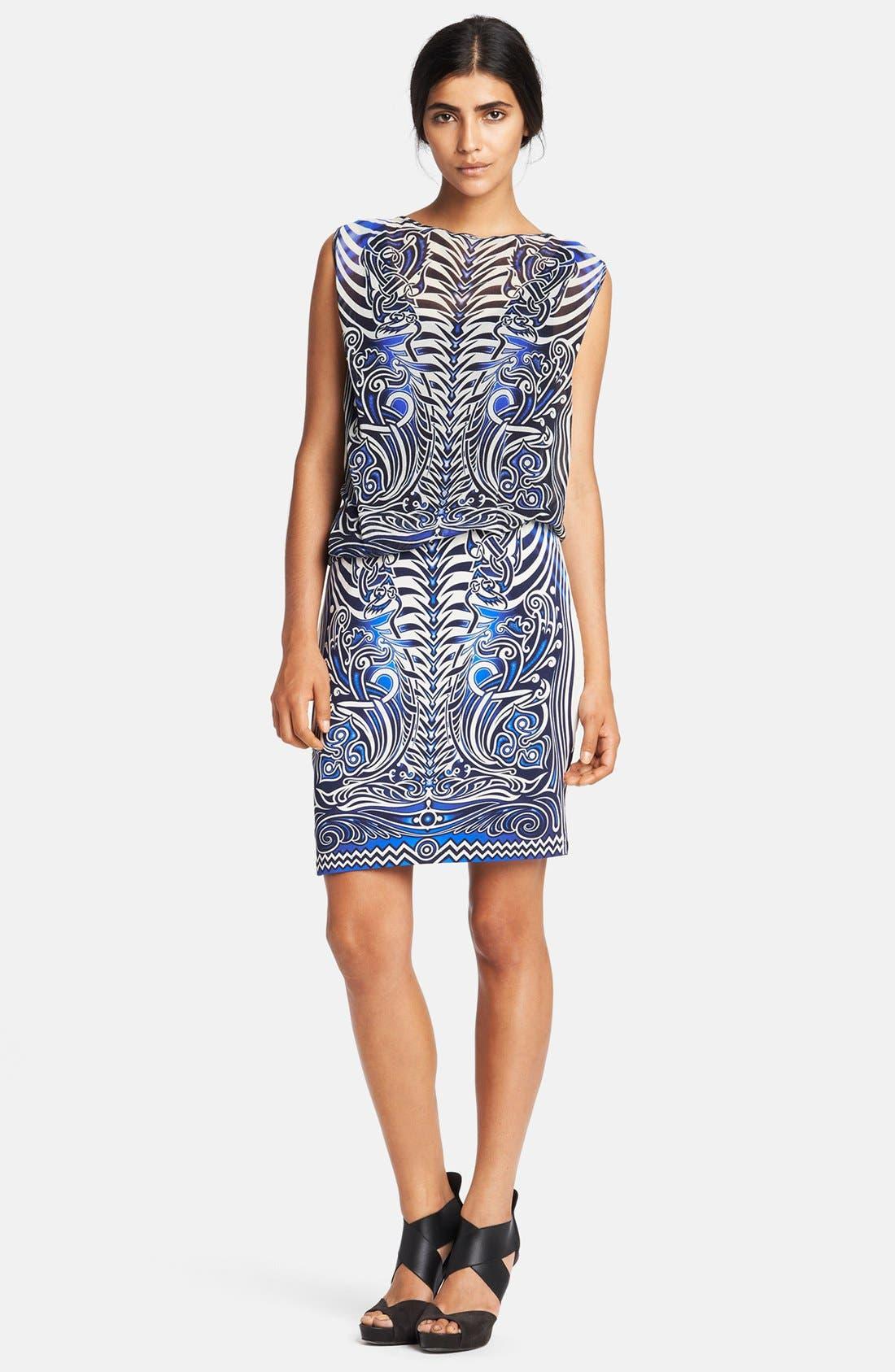 Alternate Image 1 Selected - Jean Paul Gaultier Tattoo Print Tulle & Jersey Dress