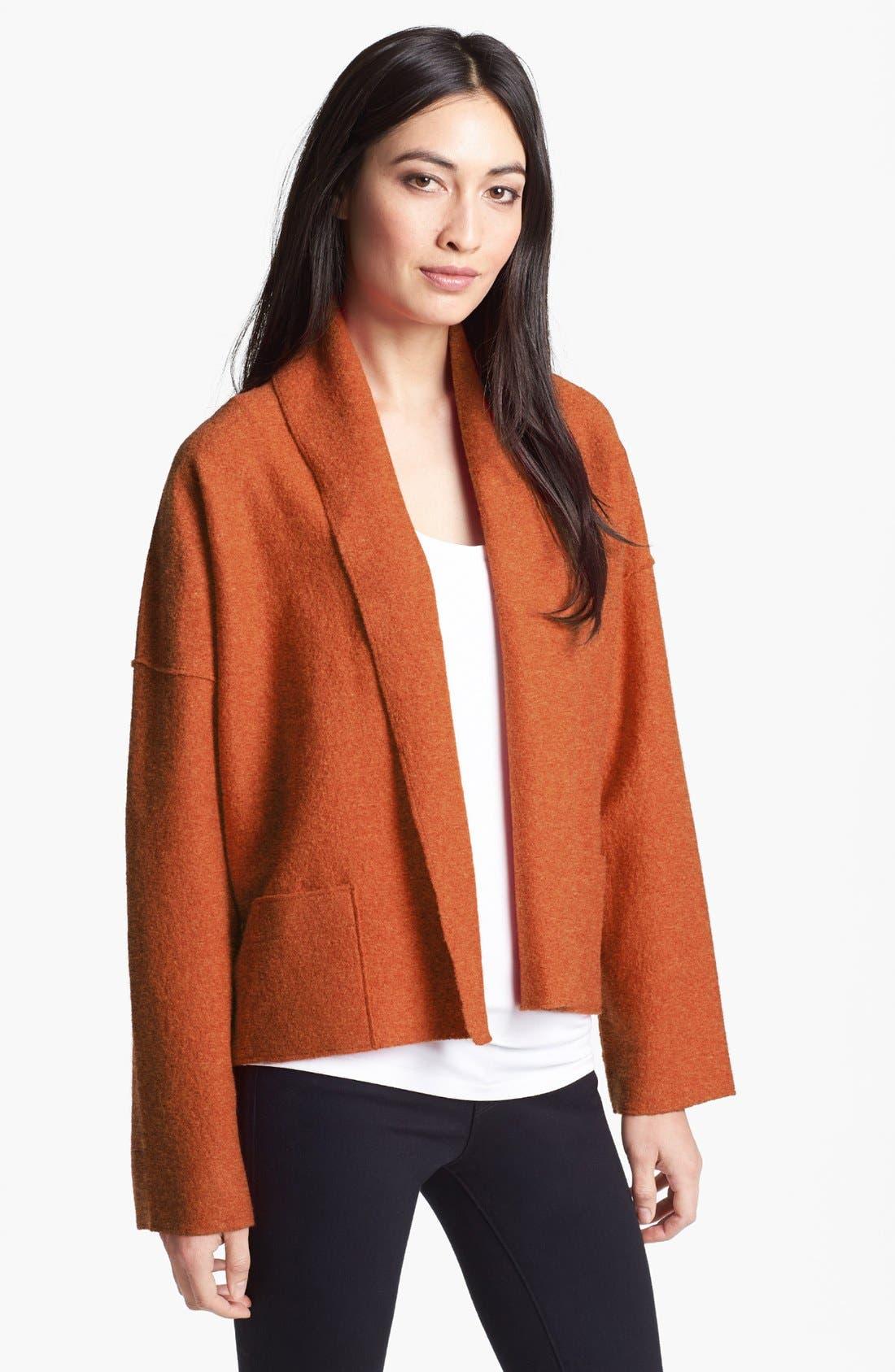 Main Image - Eileen Fisher Boiled Wool Kimono Jacket (Petite)