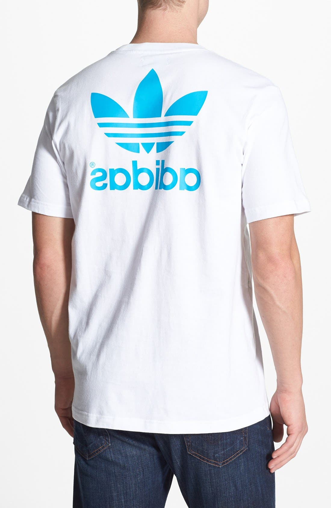 Alternate Image 2  - adidas Originals 'Mirror Trefoil' Crewneck T-Shirt