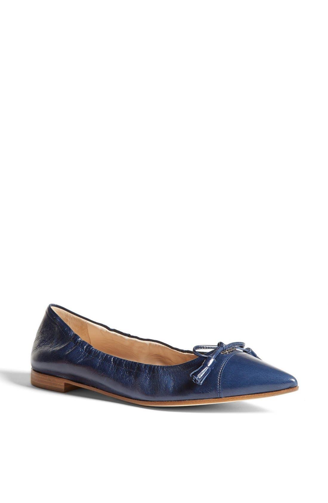 Main Image - Prada Pointy Toe Ballerina Flat
