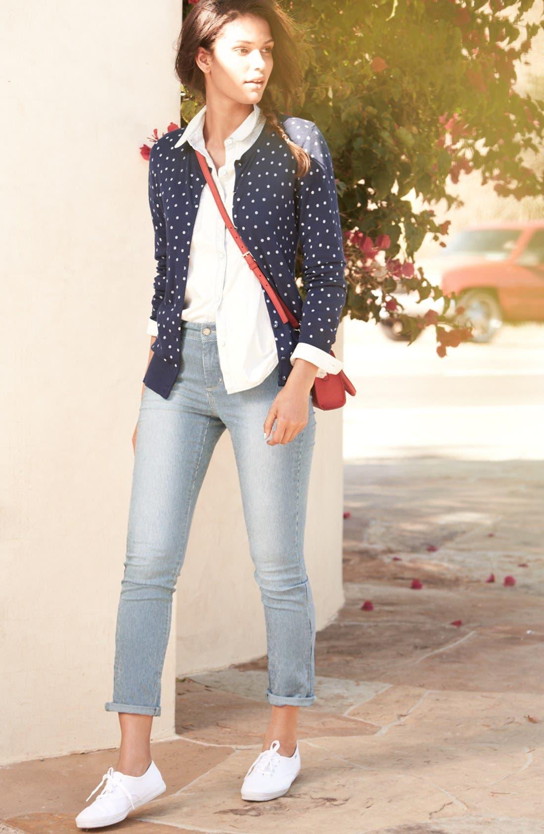 Alternate Image 4  - NYDJ 'Leann' Stretch Skinny Boyfriend Jeans (Old West Stripe) (Petite)