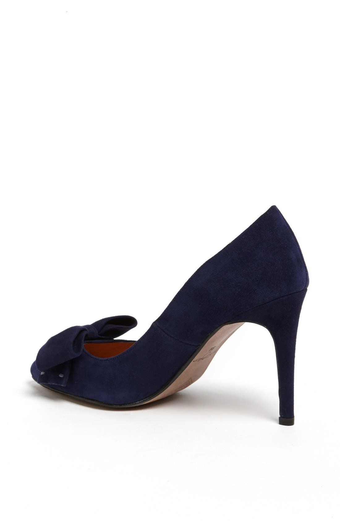 Alternate Image 2  - Halogen® 'Marla' Suede Bow Pointy Toe Pump