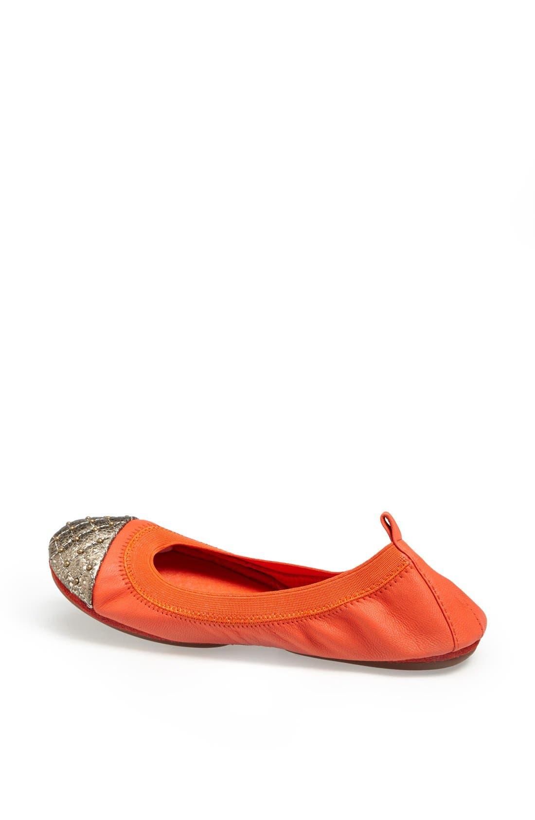 Alternate Image 2  - Yosi Samra Studded Cap Toe Foldable Ballet Flat