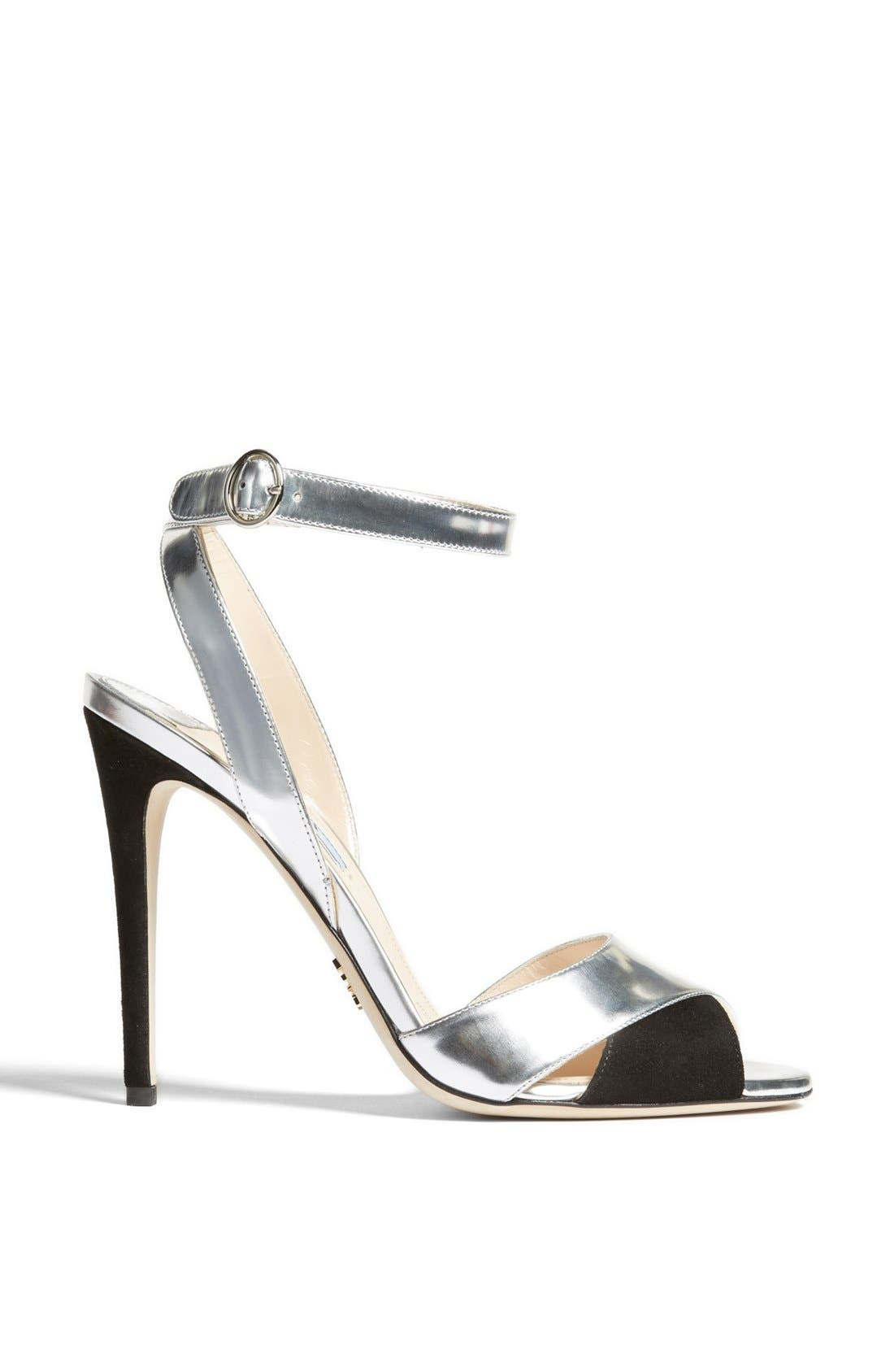Alternate Image 4  - Prada Bicolor Metallic Ankle Strap Sandal