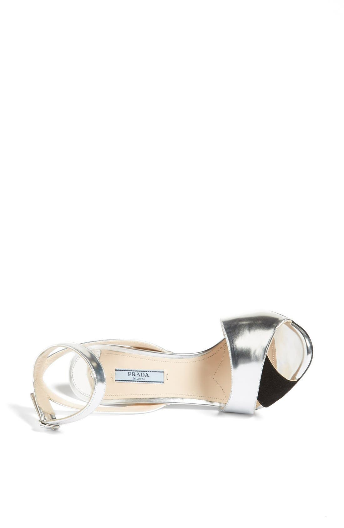 Alternate Image 3  - Prada Bicolor Metallic Ankle Strap Sandal