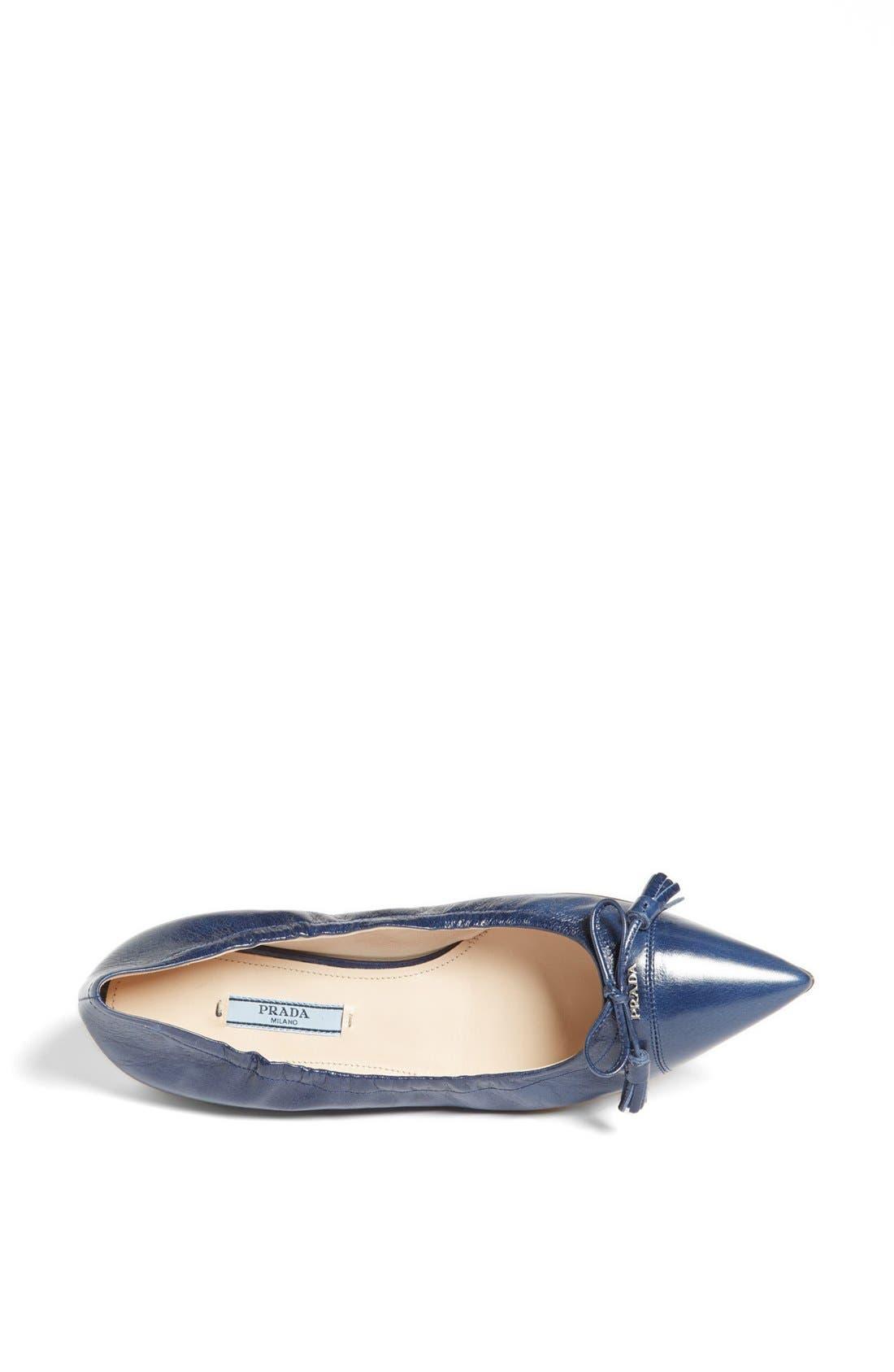 Alternate Image 3  - Prada Pointy Toe Ballerina Flat
