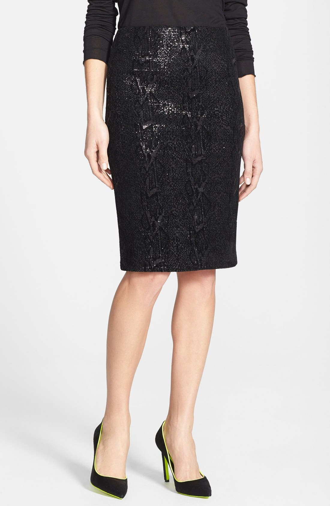 Main Image - Velvet by Graham & Spencer Sequin Pencil Skirt