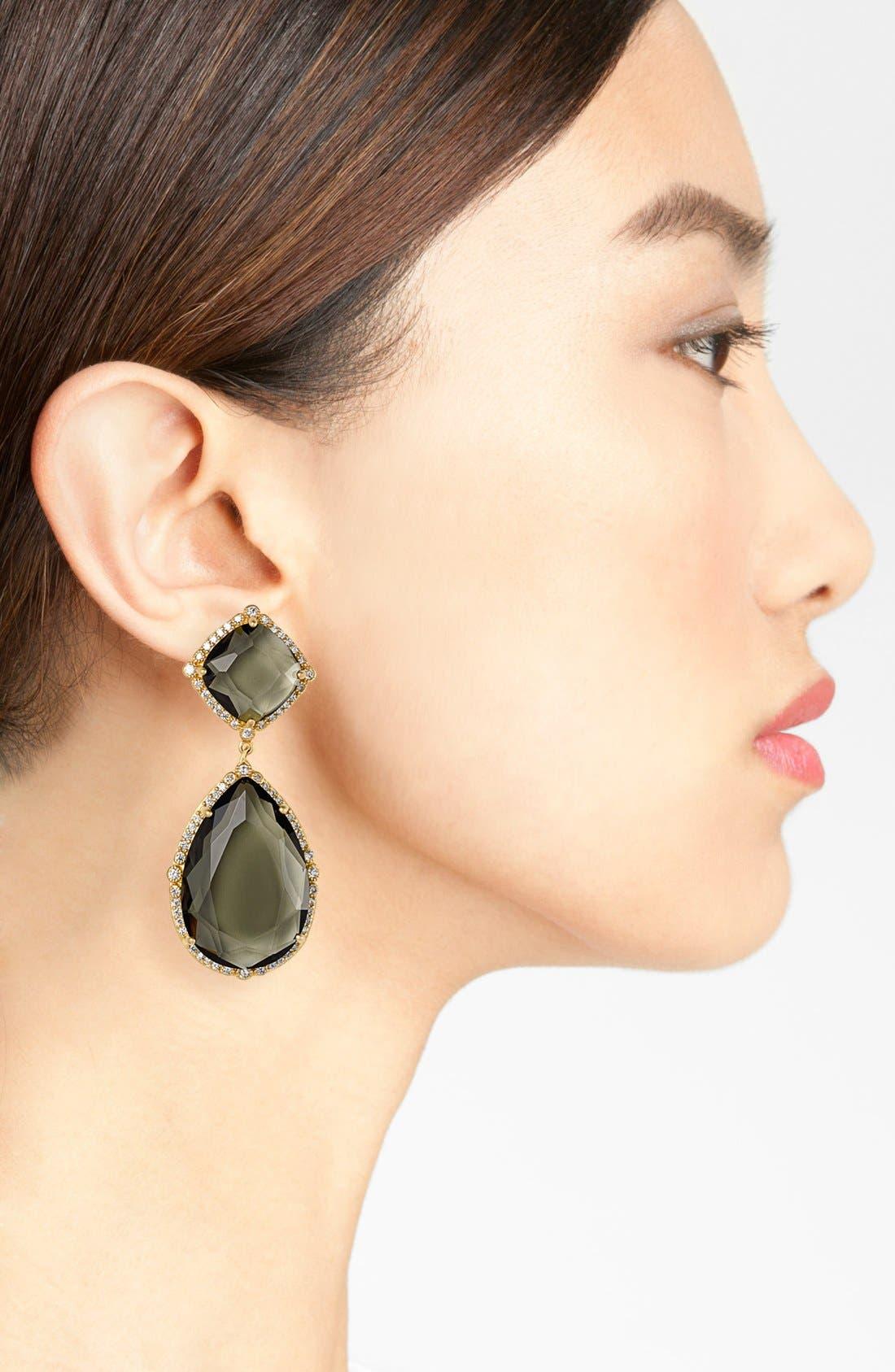 'Metropolitan' Stone Drop Earrings,                             Alternate thumbnail 2, color,                             Gold