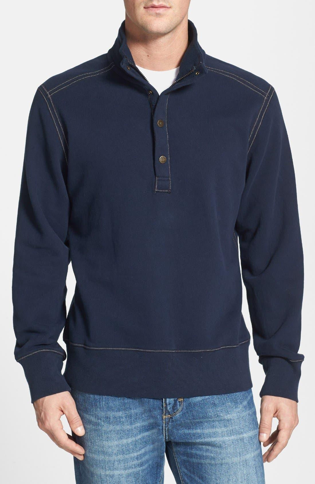 Alternate Image 1 Selected - Tommy Bahama Denim 'Explorer' Half Zip Sweatshirt