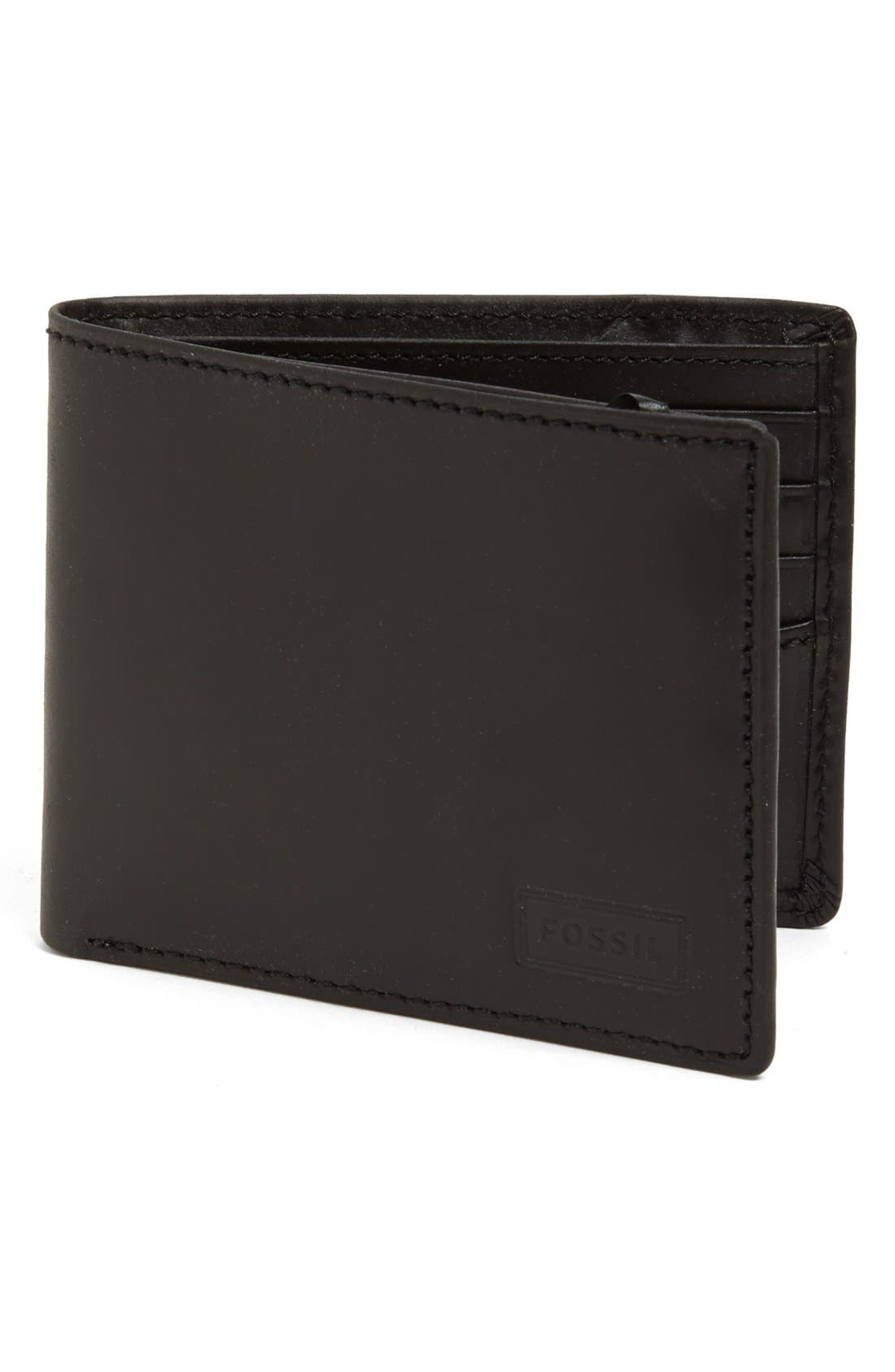 Alternate Image 1 Selected - Fossil 'Traveler' Leather Wallet