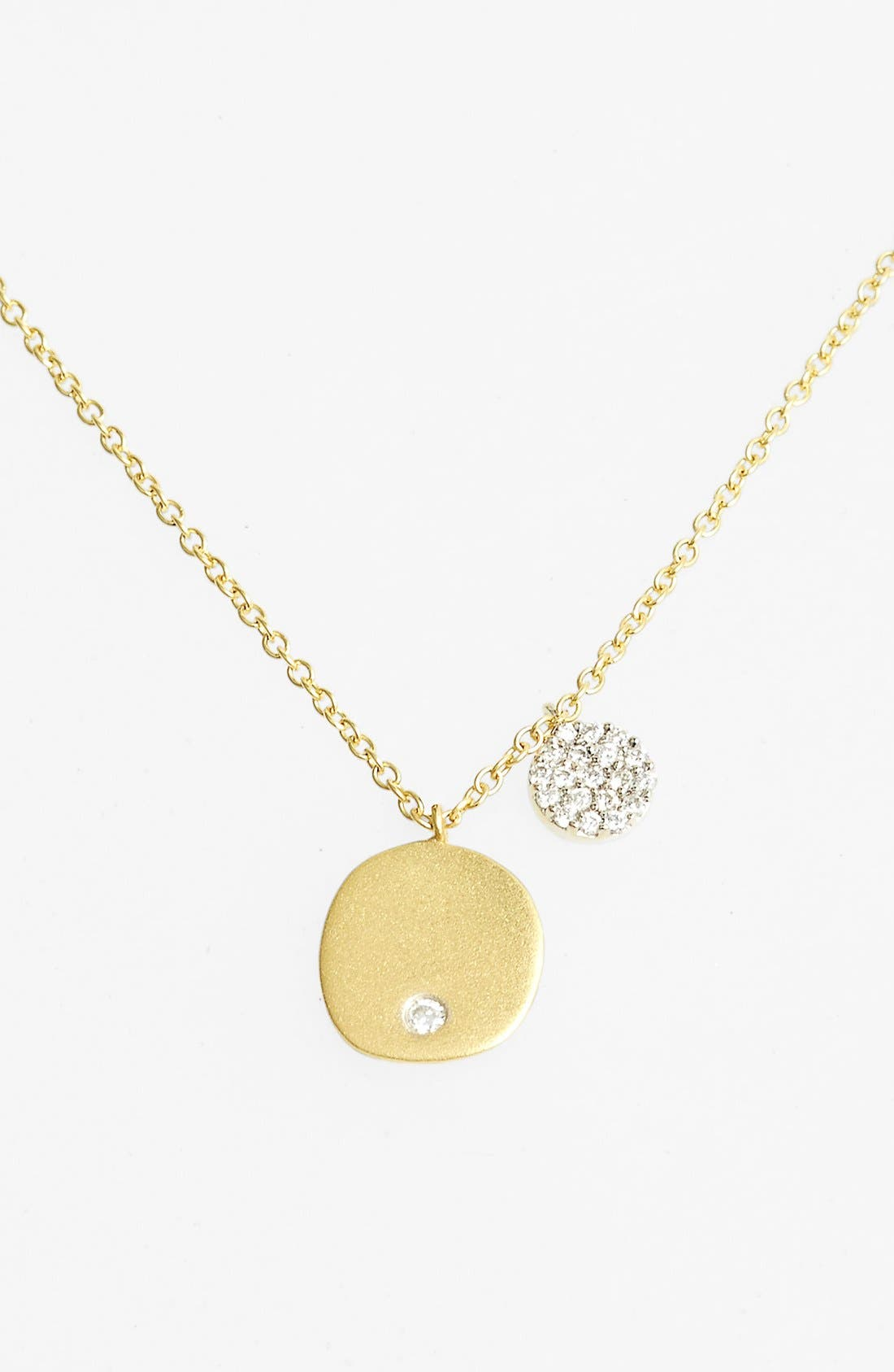 Charmed Diamond Pendant Necklace,                             Main thumbnail 1, color,                             Yellow Gold